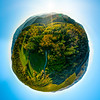 Autumn planet. Sunlit valleys, mountains and a variety of autumn colors. Alsace, France.