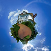 Little planet view of the beautiful house