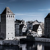 Strasbourg street infrared view, cityscape