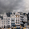 Panoramic infrared view of Brussels street