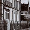 Old buildings in Strasbourg, infrared street view