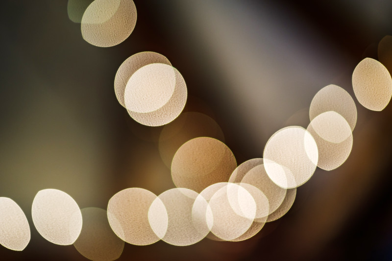Blured light of christmas tree lamps, holiday concept