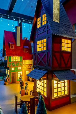 Beautiful little miniature of alsacien houses highlighted