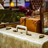Vintage suitcase in antique shop, Bruxelles
