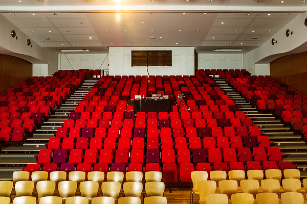 Concert hall interior perspective view