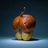Mushroom style orange pumpkin