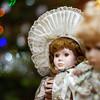 Beautiful dolls on sunday brocante in small alsacien village