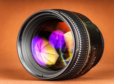 Macro view of photo lens