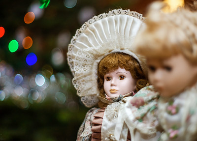 Beautiful dolls on sunday brocante in small alsacien village