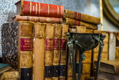 Old books in antique shop, Bruxelles