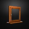 Elegant fiberglass window with oak coverage