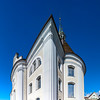 Little city Schwyz. Switzerland. Wide-angle HD-quality panoramic view.