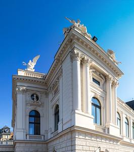 Zurich opera. Switzerland. Wide-angle HD-quality panoramic view.