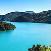 Beautiful lake panoramic view, Alps