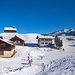 Ski resort Stoss Fronalpstock. Switzerland. Wide-angle HD-quality panoramic view.