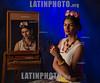 """Argentina : Actores y musicos en escena Rowena Prieto performing """" Frida Kahlo """"/ actors and musicians on stage / Argentinien : Frida Kahlo Inszenierung © Michel Marcu/LATINPHOTO.org"""