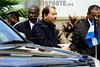 19-04-2009 - Daniel Ortega , presidente de Nicaragua a su llegada a la realizacion de la foto oficial en la V cumbre de las americas , realizada en Puerto España , Trinidad & Tobago / DanielOrtega - Nikaragua -  am Treffen der Präsidenten Lateinamerikas 2009 © Juan Carlos Hernandez/LATINPHOTO.org