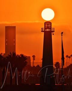 Sunrise in Long Beach, CA