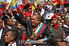 Venezuela : January 13, 2011. Hugo Chavez is going to the national assambly for his memory and account prresentatio / Venezuela : Hugo Chavez am 13.01.2017 in Caracas © Juan Carlos Hernandez/LATINPHOTO.org