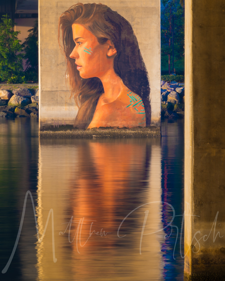 The girl under the bridge