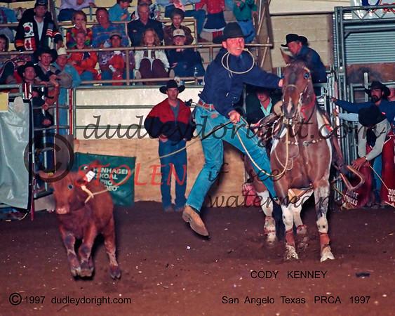 4446-9ac codyKENNEY SanAngeloTxPRCA 1997