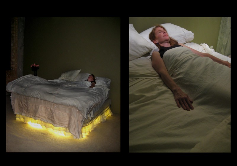 """Choosing to die at home""<br /> Installation - Performance<br /> Collaboration with Mary Mihelic."