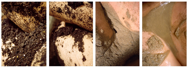 """""""Cleansing""""<br /> Private Performance<br /> sand, soil, body<br /> Feb 2006"""