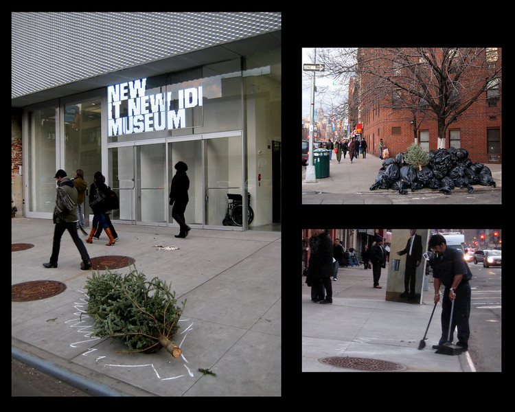 """""""Unmonumental"""" Public Installation in front of the New Museum.<br /> Collaboration with Mary Mihelic"""