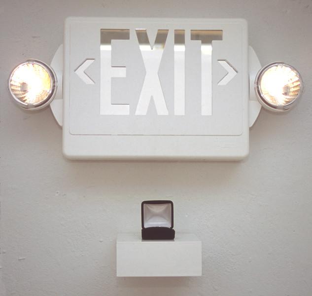 """""""Identity Exit""""<br /> Mixed Media<br /> 2005<br /> 21"""" x 18"""" x 4""""d"""