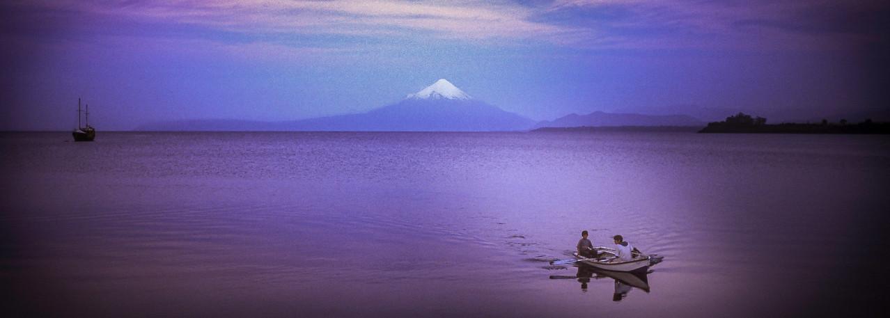 Todos los Santos Lake with Volcano Orsorno
