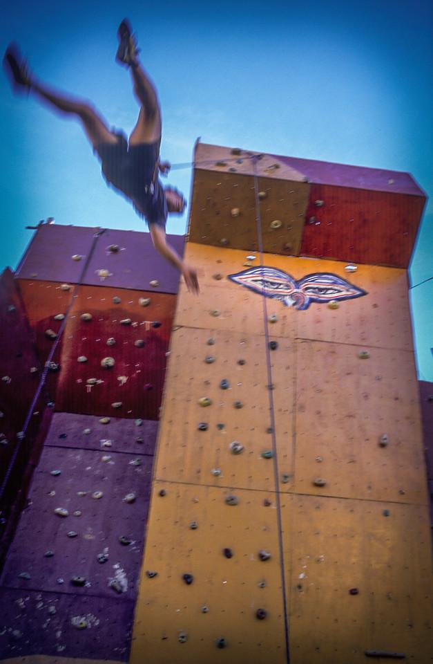 Climbing wall at the Club Andino Bariloche