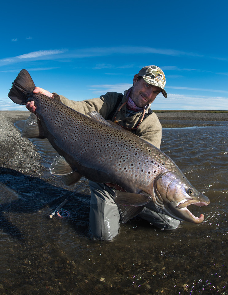 Fly fishing Tierra Del Fuego and the Rio Grande for trophy sea run browns with Despdedida Lodge and Yellow Dog Flyfishing Adventures. (C) Jim Klug Outdoor Photography