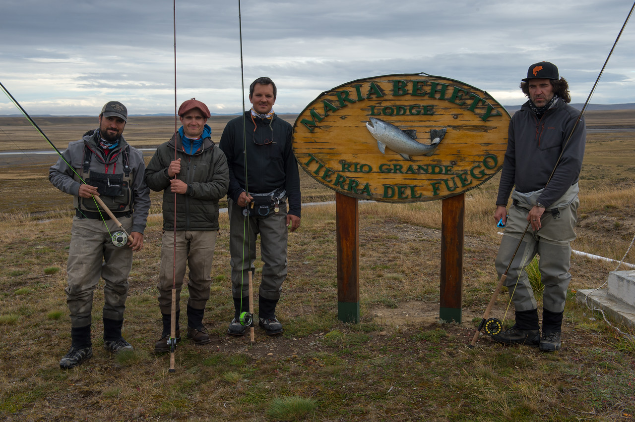 Fly fishing Tierra Del Fuego and the Rio Grande with Estancia Maria Behety and Yellow Dog Flyfishing Adventures. Tropy sea run browns on the Rio Grande. (c) Jim Klug Outdoor Photography