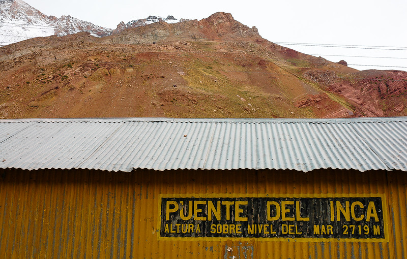 Abandoned Railway Station<br /> Puente del Inca, The Andes