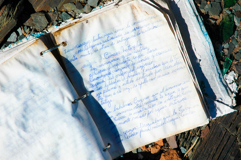 Discarded Notes<br /> Uspallata, The Andes
