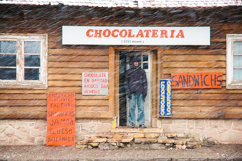 chocolateria at 3151 meters above sea level<br /> (10,337 feet)<br /> -Las Cuevas, The Andes