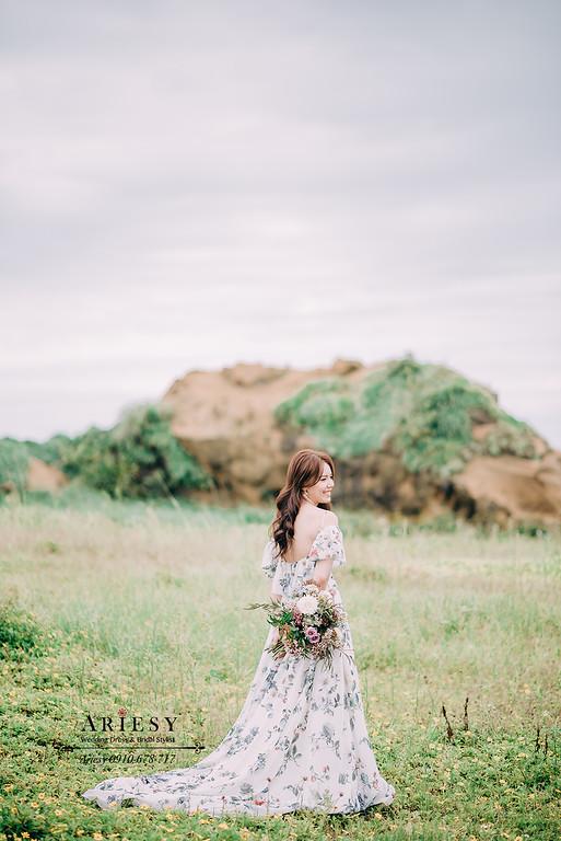 ARIESY婚紗禮服,大嘴攝影包套,新莊愛瑞思新娘秘書團隊造型,花布禮服手工婚紗,婚紗造型新秘