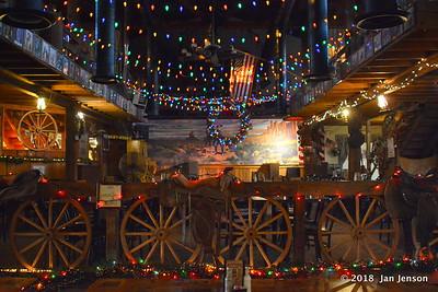 Mammoth Saloon Christmas decorations  1-4-18