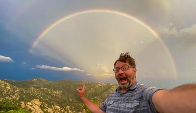Rainbow double Mount Lemmon Tucson AZ southeast Arizona trip July 2021 IMG_9192