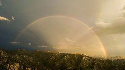Rainbow double Mount Lemmon Tucson AZ southeast Arizona trip July 2021 IMG_E9182