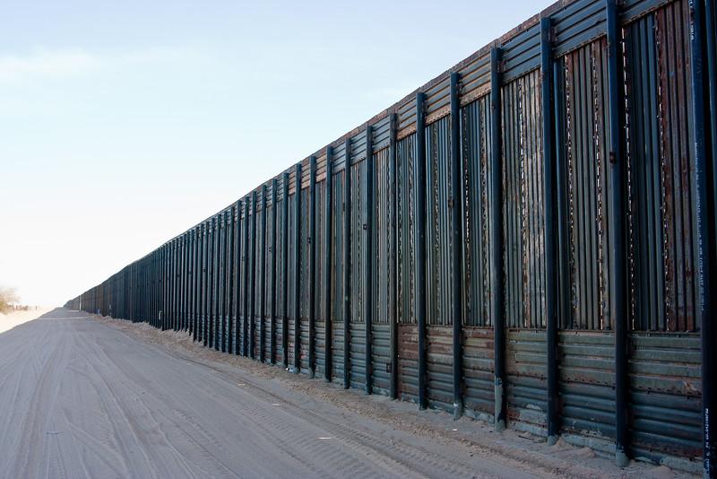 Border fence near Yuma