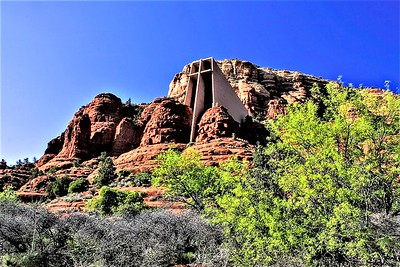 the Chapel of the Holy Cross was commissioned by Marguerite Brunswig Staude, a Sonoma rancher and sculptor. The late Sen. Barry Goldwater was instrumental in obtaining a special-use permit to build the chapel on Coconino National Forest land, and it was completed in 1956. The Chapel is also the site of one of the Sedona vortexes. The chapel is built from a 1,000 foot rock wall, rising 250 feet high as if to appear suspended in air.