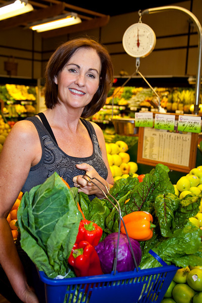 Nutritionist  Susan Machtinger in the produce section of Boardwalk Market in Tiburon, CA. on November 3, 2010.