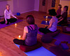Yoga class led by instructor Mary Loveland at Indigo Healing Arts in Tiburon, CA on November 3, 2010.