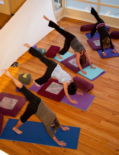 Yoga class at Indigo Healing Arts in Tiburon, CA on November 3, 2010.