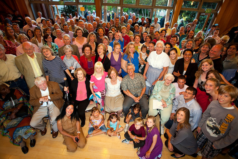 Jim and Janet Ward(center) surrounded by family and friends of the St.Stephen's Church congregation on Sunday, Sept 12, 2010 in Belvedere, Ca. The event was to thank the Ward for being the Pastor for the past 16 years .