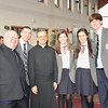 Bishop Murphy poses for another photo opt with Billie Benke, Fr. Tom, Catherine Edwards, Mary Calabro, and Bobby Kovalsky.