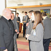 Individuals spoke with the Bishop appreciating his message and his time here at Kellenberg.