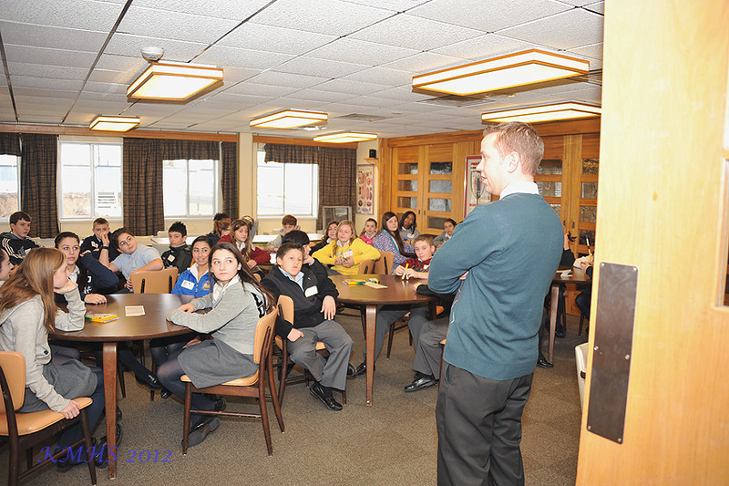 Then we visited Mr. Kirk who was running a retreat for Homeroom 7A.