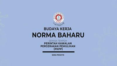 VIDEO PSA : BUDAYA KERJA NORMA BAHARU
